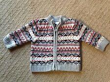 EUC Infant Koala Baby Fair Isle Zip Front Cardigan Sweater-Size 6-9Mo.