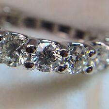 Anillo Eternidad Natural Anillo Con Diamante 3.50 Quilate G/VS1 Pureza 18 ct