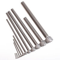 5Pcs Dia M8 25mm 304 Stainless Steel Hex Socket Head Cap Thread Screws M8*25mm