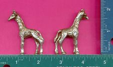 4 wholesale lead free pewter giraffe figurines E5090