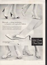 Vintage advertising print ad FASHION Shoes Red Cross Brookwood Balinese 1957 ad