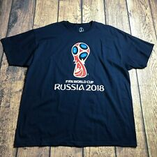 Fifa World Cup Russia 2018 Adult Xl Short Sleeve Soccer Tee Shirt New Logo