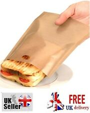 Toast bags Re-Usable up to 100 Times Sandwich Toastie Bag Toast Toaster 2 Bags
