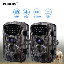 2 Pack BOBLOV 18MP 1080P IR Night Vision Wildlife Scouting Trail Hunting Camera