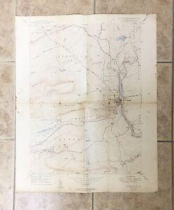 VTG 1950 White Haven PA USGS Topographical Geological Survey Quadrangle Map