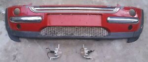 Front Bumper Base With Chrome Lower Grille Fits 02 03 04 MINI COOPER