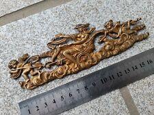 Ancien élément décoration / ornement fronton en bronze pour meubles 17,8 cm