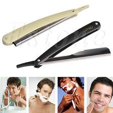 1PC New Straight Edge Stainless Steel Barber Razor Folding Shaving Shave Knife