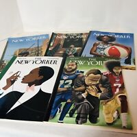 Lot of 5 NEW YORKER MAGAZINE 3 Kadir Nelson Covers- 2017-2018 African American