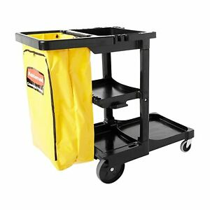 Rubbermaid Commercial Traditional Janitorial 3-Shelf Cart