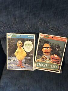 VTG Whitman Muppets Sesame Street Big Bird Bert & Ernie Frame Tray Puzzle 1977
