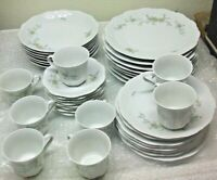 39 Piece Schirnding Bavaria Blue Yellow Floral Dish set made in Germany