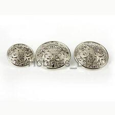 10pcs Hollow Flower Carved Metal Shank Button Sewing Coat Craft DIY Embellishmet