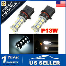 2Pcs P13W 5050 18-SMD LED Bulbs For Chevy Camaro White Fog Lamp Driving Lights