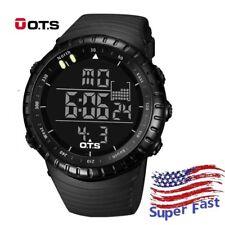 Men Military Army Sport Wrist Watch Analog Digital Waterproof OTS LED Outdoor US