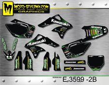 Kawasaki KX 250f 2006 up to 2008 graphics decals kit Moto StyleMX