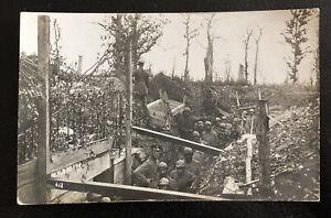 Ak Postkarte - Wk1 - Gefangene Franzosen im Schützengraben Inf.Rgt. 125