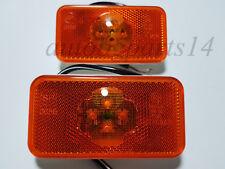 2x Side Marker LED (4 LEDs) Lights Lamps for Volvo FH-FM-FL 24V Amber E9 marked