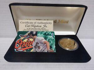 The Highland Mint Cal Ripken Jr. 24K Plated Gold Coin w/ Phone Card 071621MGL