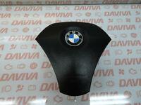 BMW 5 Série E60 E61 2003-2010 3 Rayon Direction Roue Cuir Noir Air Srs Bag