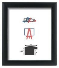 """US ART Frames 1"""" Black Nugget Contemporary MDF Wood Picture Poster Frames S-A"""