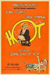 MARILYN MONROE - 1959 - SOME LIKE IT HOT - 12X18 INCH MOVIE POSTER COLLECTABLE