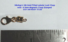 14k Gold Filled Magnetic Strong Magnet Clasp Lobster Lock Claw Clasp Connector