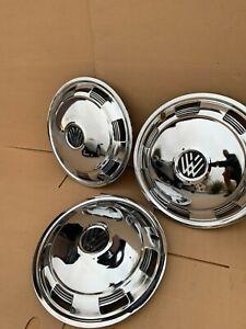 "VW Volkswagen 15"" Chrome Hubcaps  (Used) (Quantity 3)"