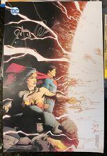 EXCLUSIVE DC METAL LITHOGRAPH SIGNED GREG CAPULLO SCOTT SNYDER BATMAN SUPERMAN
