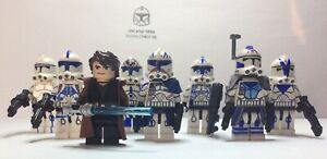 Lego Star Wars minifigures - Clone Custom Troopers - General Skywalkers 501st