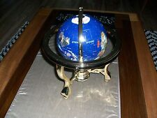 "Globe, Gold-Plated Frame. Commander, 3 Leg W/ Compass 11"" tal"