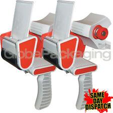 """2 Heavy Duty Caja De Cinta De Embalaje Pistolas Dispensadores 50mm (2 """")"""