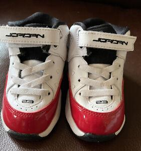 Infant Jordan  Basketball Shoes - Black/White/Gym Red - Size Infant 5C