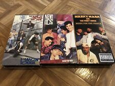 NKOTB New Kids On The Block VHS LOT Hangin Tough + Step By Step + Marky Mark