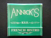 ANNICK'S BYO FRENCH BISTRO 153 BRUNSWICK ST FIRZROY 4193007 MATCHBOOK