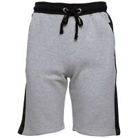 Mens Fleece Shorts Elasticated Waist Gym Summer Casual Fitness Sweat Shorts