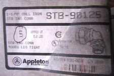 5 NEW APPLETON STB-90125 CONNECTORS STB90125
