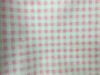 Light Pink White Mini Checkered Poly Cotton Printed Fabric - BTY - 59""
