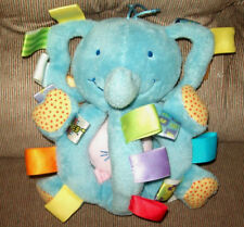 Taggies Early Years GRABBY Blue Elephant Chime Baby Toy Vibrating Kitten Plush