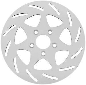 "Biker's Choice Mirror Polished Brake Rotor 7-Spade - Left Front 144801-5/16"""