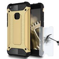 Coque Téléphone Plastique Pour Huawei P10 Lite avec Film Protecteur Pare-chocs