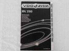 Einbauanleitung Radsensor MA 3100, für Navi VDO Dayton PC 5400/5500