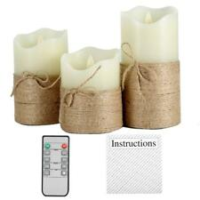 Battery Powered Flameless LED Candle Hemp Rope with Remote Control Timing Decors