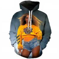 Popular Singer Beyonce 3D print Hoodie MenWomen Casual Sweatshirt Pullovers Tops