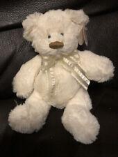 Carte Blanche Ruffles Super Soft White/cream Teddy Bear Plush/beanie 9 Inch