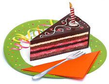 Pop-Up-3 D-carte Mariage ou Anniversaire: savoureux sombre Gâteau de crèmes