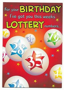 Happy Birthday Lottery Joke Greetings Card For Him/Her/Friend by Cards For You