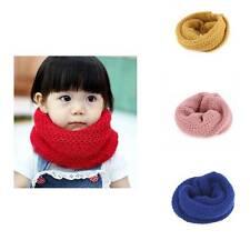 Cute Boys Girls Winter Baby Kids Warm Scarf Knitted Wool Cap Neck Warmer Scarves