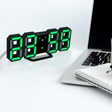 Modern Digital 3D White LED Wall Clock Alarm Clock CL Snooze Hour Displa Y9M1