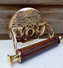 Waterloo Vintage Design Victorian Toilet Roll Holder Solid Brass